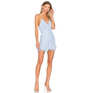 NBD Revolve Marilyn Periwinkle Lace Strappy Dress